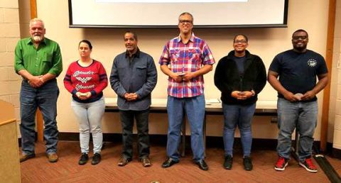 Hopkinsville Community College student SALUTE Veteran National Honor Society inductees: Pictured left to right: Ricky Shaw, Kristie Johnson, Roberto Garcia-Chavez, Roger Anderson, Gloria Poindexter and Malcolm Queen. (Not pictured: Miguel Pica, Chance Oliver and Terry Miller, Jr.)