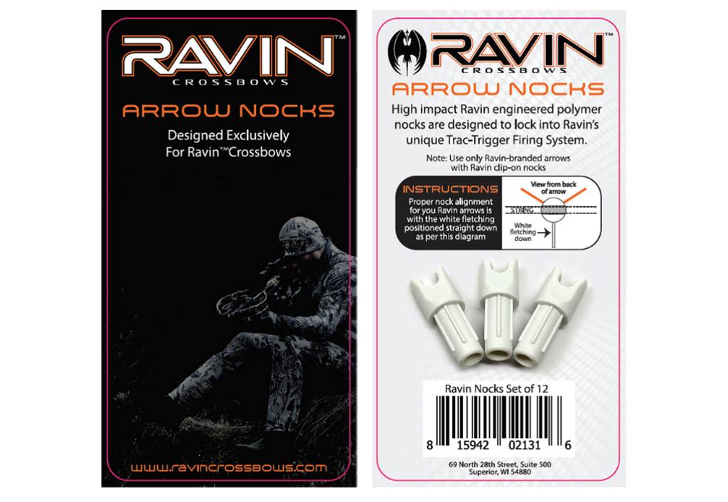 Recalled Ravin arrow nocks with packaging.
