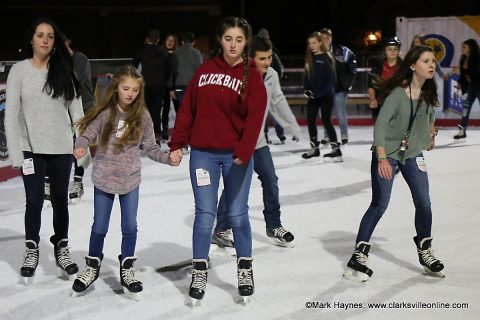 Ice Skating at the Downtown Commons