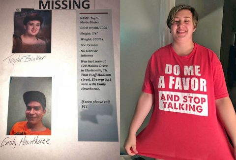 Clarksville Police request public help in finding missing juvenile Taylor Binker.