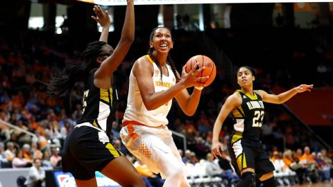 UT Lady Vols senior Mercedes Russell scored 22 points and had 6 rebounds in win over Alabama State Sunday. (Tennessee Athletics)