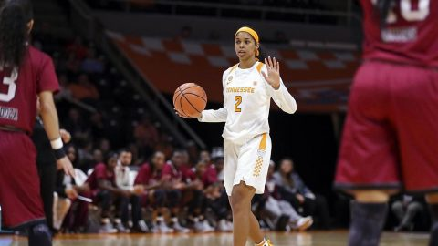 Tennessee Women's Basketball freshman guard Evina Westbrook scored 8 points and a career-high 12 assists in win over Troy Wednesday night. (Tennessee Athletics)
