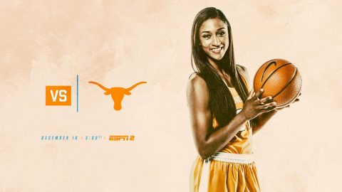Tennessee Women's Basketball face off against the Texas Longhorns Sunday afternoon at Thompson-Boling Arena. (Tennessee Athletics)