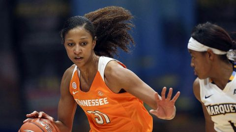 Tennessee Women's Basketball beat Standford Thursday night 83-71 at the Maples Pavilion. (Tennessee Athletics)