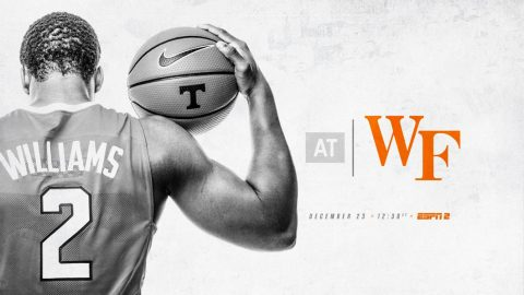 #21 Tennessee Men's Basketball travels to Wake Forest Saturday for a 11:30pm CT tip off. (Tennessee Athletics)
