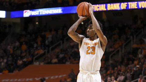 Tennessee Men's Basketball beats Wake Forest 79-60 Saturday afternoon at the Lawrence Joel Veterans Memorial Coliseum. (Craig Bisacre/Tennessee Athletics)