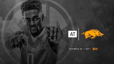 Tennessee Men's Basketball is on the road Saturday to take on the Arkansas Razorbacks at Bud Walton Arena. Tip off is set for 12:00pm CT. (Tennessee Athletics)