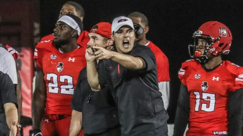 APSU Football Coach Wins Eddie Robinson Award.{APSU Sports Information}