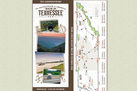 2018 Tennessee Transportation Map