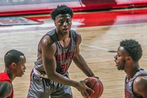 Austin Peay Men's Basketball freshman guard/forward Terry Taylor had a game high 29 points and 14 rebounds in Saturday night victory over Southeast Missouri. (APSU Sports Information)