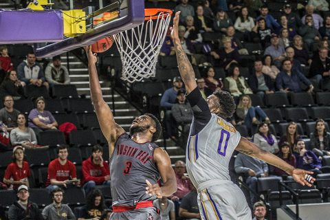 Austin Peay Men's Basketball loses to Tennessee Tech Golden Eagles Thursday night at the Eblen Center. (APSU Sports Information)