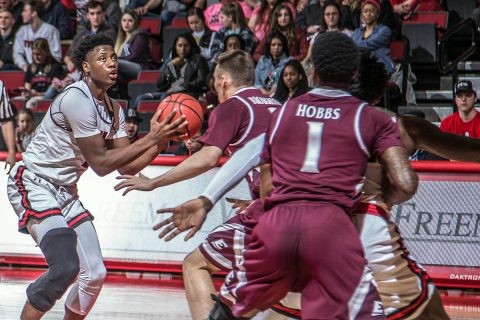 Austin Peay Men's Basketball had six players in double figures in victory over Eastern Kentucky Thursday night at the Dunn Center. (APSU Sports Information)