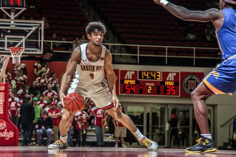 Austin Peay Men's Basketball takes down Morehead State 92-76 Saturday night at the Dunn Center. (APSU Sports Information)