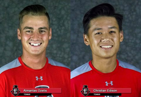 APSU Tennis - Almantas Ozelis and Christian Edison