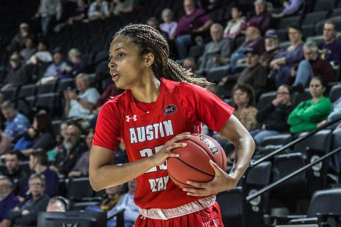 Austin Peay Women's Basketball junior guard Michaela Campbell scores career high 19 points in loss to Tennessee Tech Thursday. (APSU Sports Information)