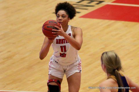 Austin Peay Women's Basketball center Brianne Alexander scored 17 points in win over UT Martin Wednesday night.