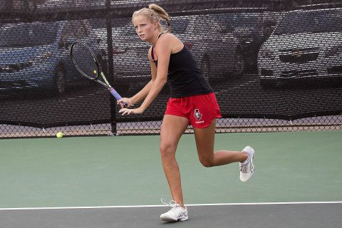 Austin Peay Women's Tennis team's home game against Chattanooga Monday has been rescheduled due to inclement weather. (APSU Sports Information)