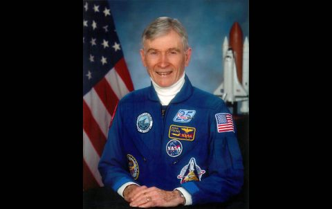 John Young's official astronaut portrait. (NASA)