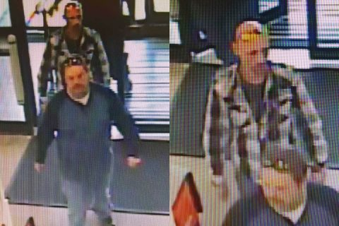 Clarksville Police requests public help identifying the suspects in this photo. They are wanted in connection to the robbery of an 81 year old women. Suspect 1 is on the left. Suspect 2 on the right.
