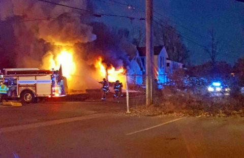 There was a house fire on Stafford Street early Saturday morning.