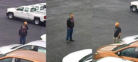 Clarksville Police are asking for the public's help to identify the two men in this photo who are suspects in a vehicle theft case.