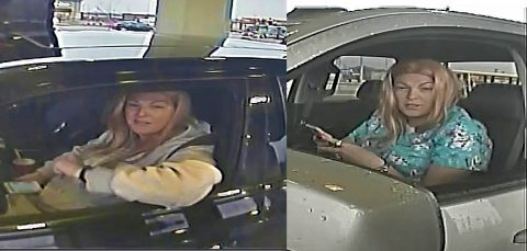 Clarksville Police are trying to identify the women in these photos for passing four forged checks.