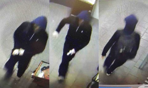 Clarksville Police are trying to identify the person in these photo in connection to a burglary on Peachers Mill Road.