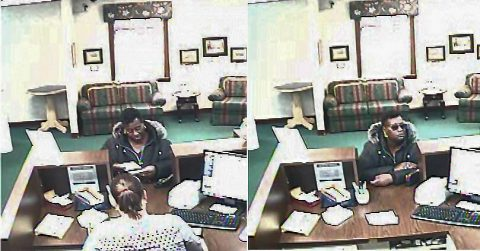 Clarksville Police are trying to identify the woman in this photo who withdrew money from bank accounts that were not their own.