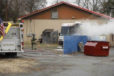 Clarksville Fire Rescure puts out an RV Fire on Kraft Street.