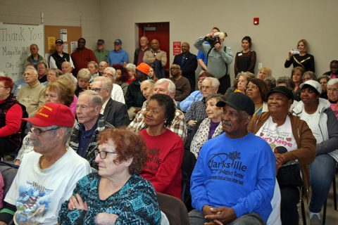 A big crowd gathered Wednesday for the dedication of the new addition to the Ajax Turner Senior Citizen Center in Clarksville.