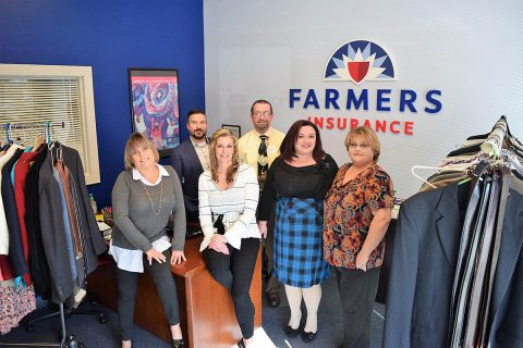 (L to R) Laurie Davis, Farmers; Eric Horton, AJC; Marcalee Baxter, Farmers; Dale Peters, AJC; Rachel Joseph, Farmers; Sharee Allen, Farmers Insurance.