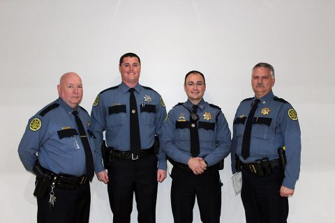 Montgomery County Sheriff's Deputy Joshua Rose (2nd from the left) completes twelve week law enforcement course.