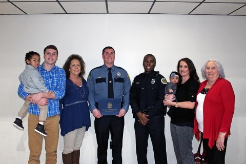 MCSO Deputy Joshua Rose with friends and family.