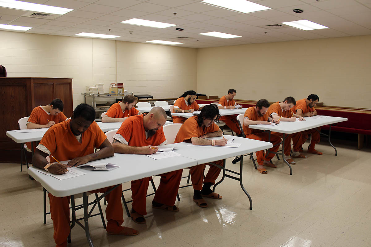 Workforce Essentials works with Montgomery County Sheriff's Office to start  High School Equivalency Test program at the Montgomery County Jail.
