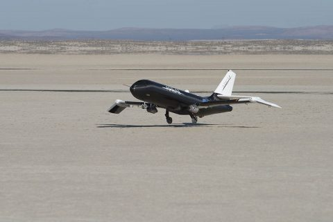 NASA used a remotely-controlled flight testbed called Prototype Technology-Evaluation Research Aircraft, or PTERA, to test the shape memory alloy. PTERA was designed and built by Area-I, and can be reconfigured to accommodate a wide variety of flight experiments. (NASA / Ken Ulbrich)