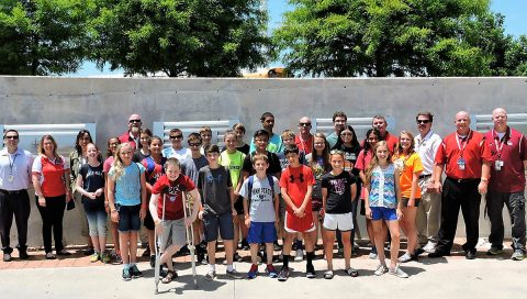 Students at Robertsville Middle School in Oak Ridge, Tennessee, design a 1U CubeSat as part of an elective course developed by Robertsville Middle School teachers and NASA's Educator Professional Development Collaborative. (NASA/Oak Ridge City Schools)