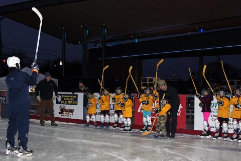 Predators Team Get Out And Learn (G.O.A.L) Program teaches hockey skills to local kids.