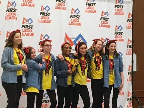 "Northeast Middle ""Strike"" won 2nd place Overall for the Tournament. (Evelyn Bishop, Science/STEM Coordinator 9-12)"