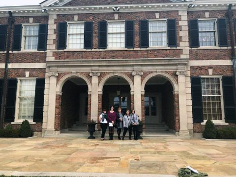 Northeast Students in front of the Tennessee Governor's Home.