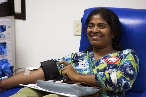 Donors of all blood types are urged to give now and help restock blood supply. (Amanda Romney, American Red Cross)