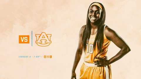 Tennessee Women's Basketball faces Auburn Thursday night at Thompson-Boling Arena. Tip off is at 6:02pm CT. (Tennessee Athletics)