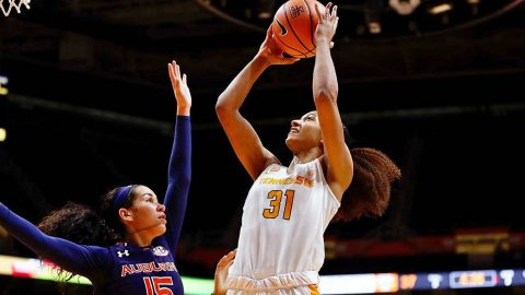 Tennessee Women's Basketball moved to 14-0 on the season with 70-59 victory over Auburn at Thompson-Boling Arena Thursday night. (Tennessee Athletics)