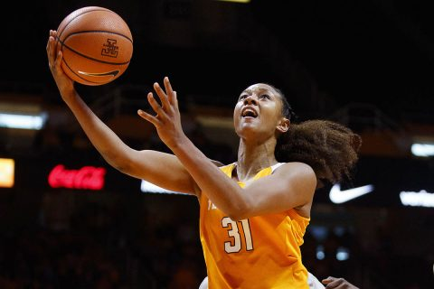 Tennessee Women's Basketball senior Jaime Nared had 19 points in Sunday win over South Carolina. (Tennessee Athletics)