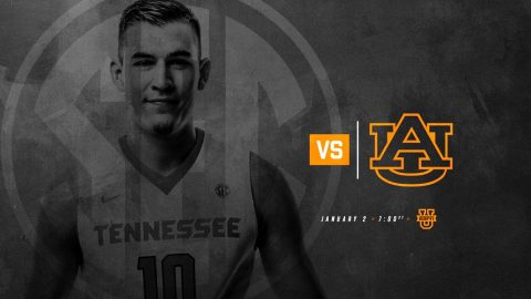 Tennessee Men's Basketball faces the Auburn Tigers at Thompson-Boling Arena Tuesday night. Tip off is set for 6:00pm CT. (Tennessee Athletics)