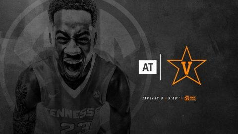 Tennessee Men's Basketball take on Vanderbilt at Memorial Gymnasium Tuesday. Tip off will be at 8:00pm CT. (Tennessee Athletics)