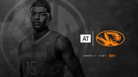 Tennessee Men's Basketball at Missouri Tigers Wednesday night. Tip off is at 8:00pm CT. (Tennessee Athletics)