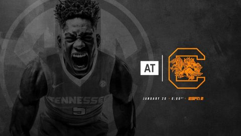 Tennessee Men's Basketball heads to Columbia Saturday to take on the South Carolina Gamecocks at the Colonial Life Arena. (Tennessee Athletics)