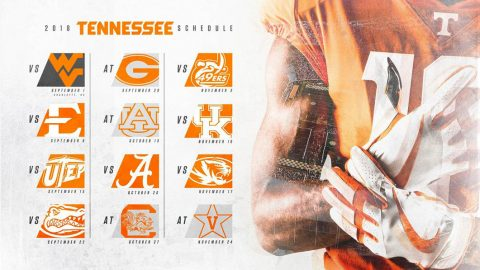 Tennessee Vols Football 2018 Schedule. (Tennessee Athletics)