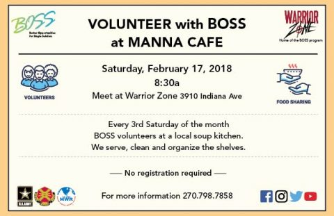 Volunteer with BOSS at Manna Café