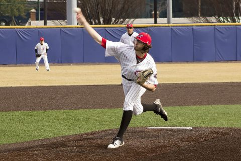 Austin Peay Baseball pitcher Brandon Vial pitched 7.1 scoreless innings against Illinois, Sunday. (APSU Sports Information)